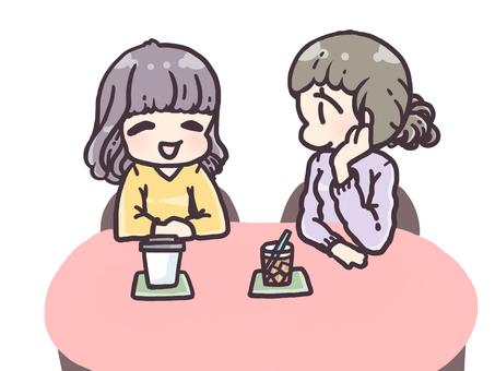 Talking happily
