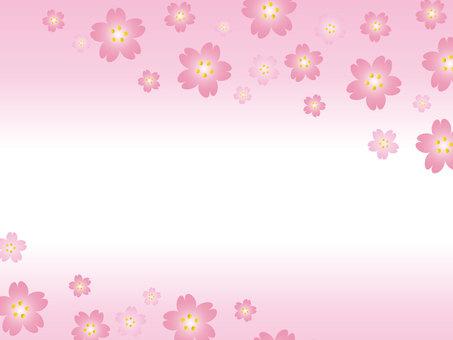 Spring material cherry blossom frame