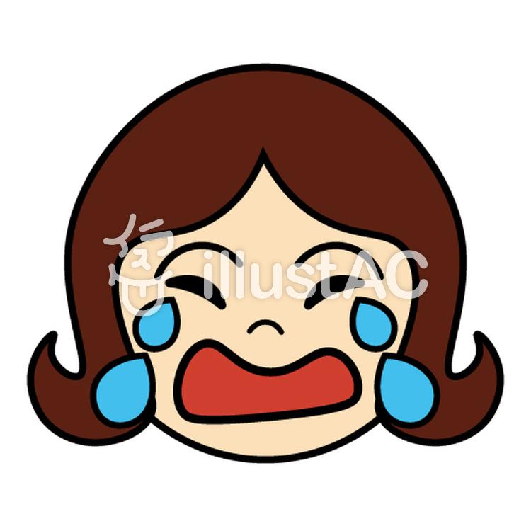 表情1泣く泣き顔日本語教師教材用イラスト No 310265無料