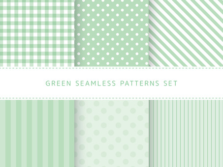 Yellow green seamless pattern set
