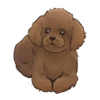 Dog Toy Poodle Red