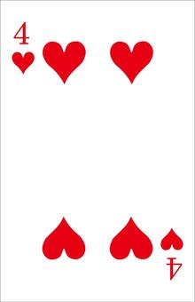 Playing card (heart base)
