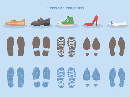 Shoes and footprints