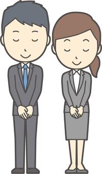 Men's and women's suits graduate - 004 - whole body
