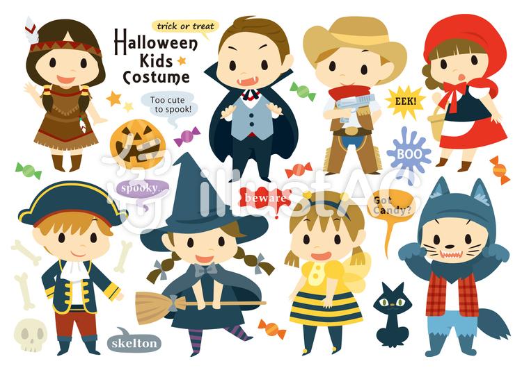 Halloween costumeのイラスト