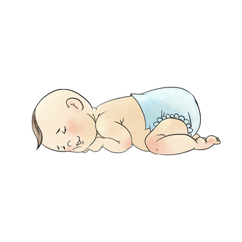 Nap baby lying down sleeping