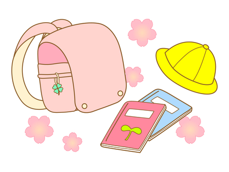 Pink color school bag