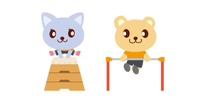 Animal character (sports) gymnastics