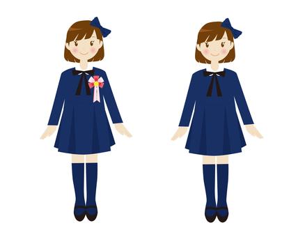 Formal girls Navy blue one piece