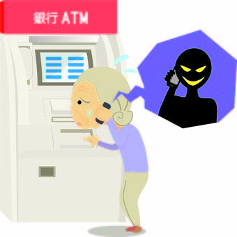 Bank transfer fraud ATM
