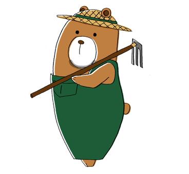 Bear, agricultural work