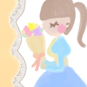 Bouquet and girl
