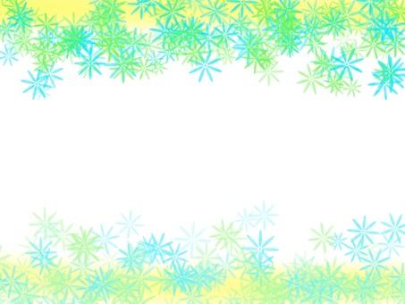 꽃 모양의 프레임