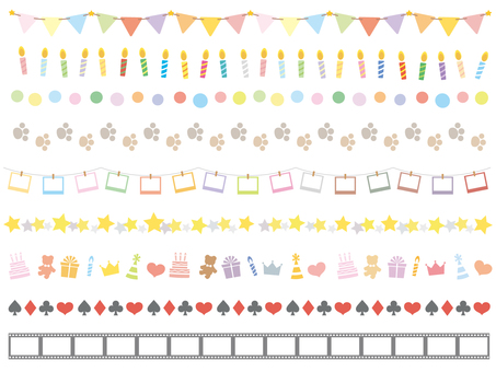 Birthday party line set 1