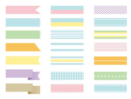 Various ribbon sets