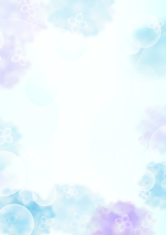 Hydrangea Frame 6 Vertical