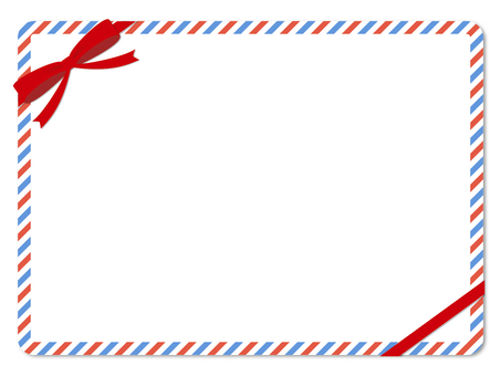 Air Mail Pattern Message Card