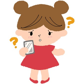 Girl with an smartphone, ending face