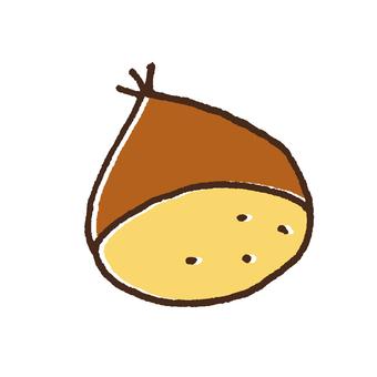 可愛的栗子的插圖