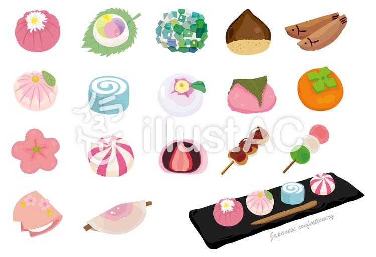 四季の和菓子イラスト No 854639無料イラストならイラストac