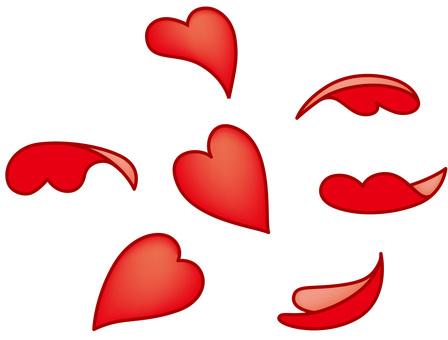 Petal style wind heart 3