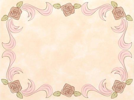 薔薇のアンティークフレーム