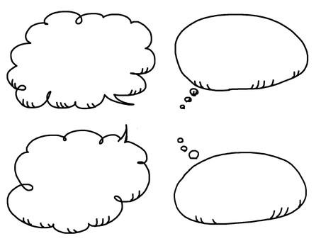 4 types of speech bubbles