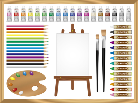 Painting material set