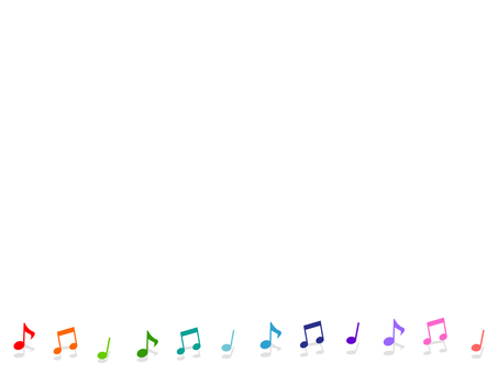 Colorful musical note decorative frame