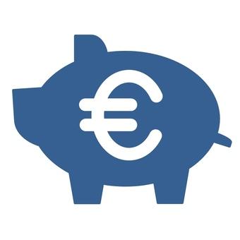 Pig's piggy bank Euromark