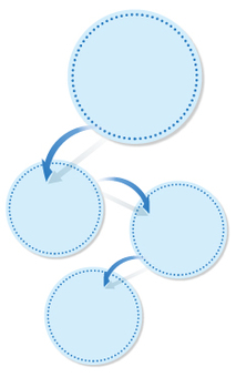 Seam - circle pattern - sequential - blue