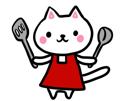 White cat series cooking