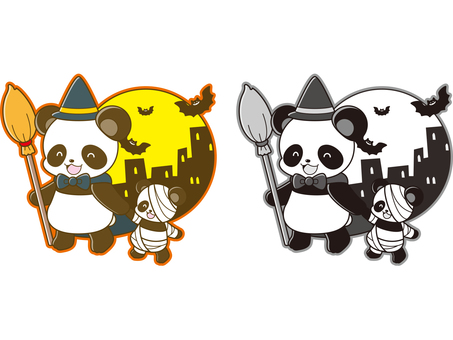 Panda illustration _ Halloween _ 01
