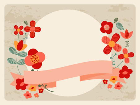 Scandinavian flower frame
