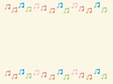 Frame of colorful notes