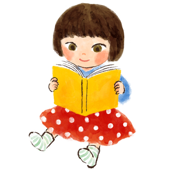 Reading books Child reading Reading girls picture books