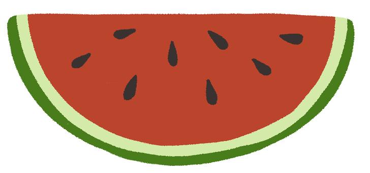 Watermelon half moon cut
