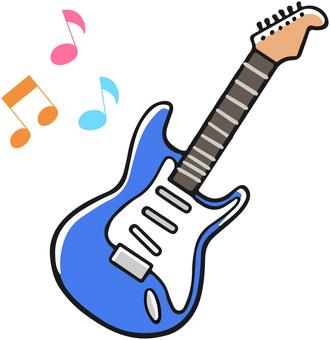 푸른 일렉트릭 기타