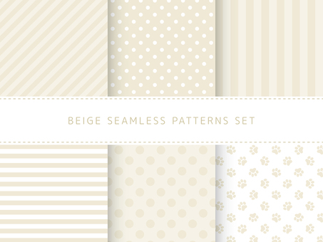 Beige seamless pattern set