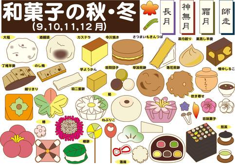 Japanese sweets (autumn, winter)