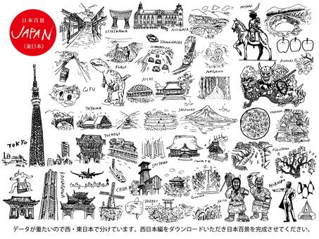 One hundred Japan Views (East Japan)