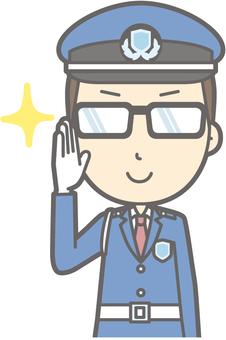 Security guard - Glasses Kirari 2 - Bust