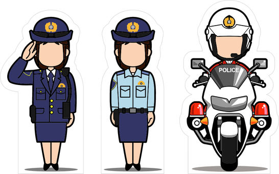 Headgear signs · Women police compilation (criteria: 140 cm)