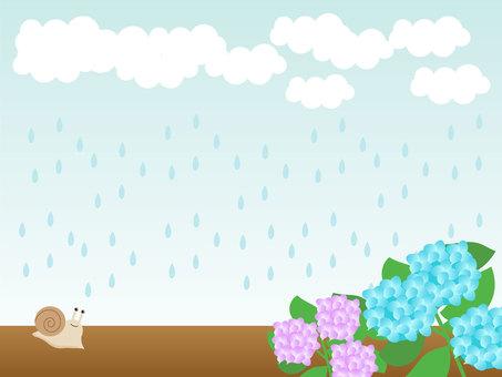 비오는 날의 배경