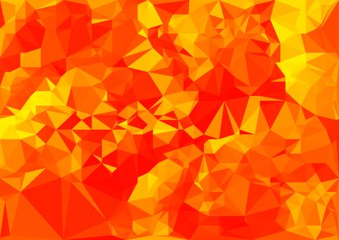 赤色のデジタルポリゴンベクター背景素材