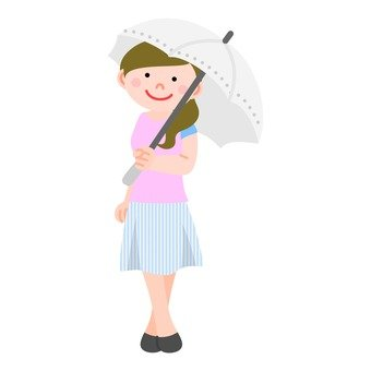 A woman holding a parasol 5