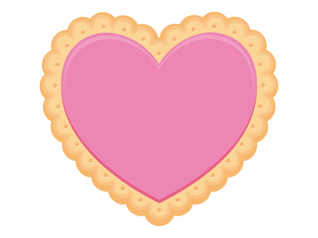 Heart cookie (pink)