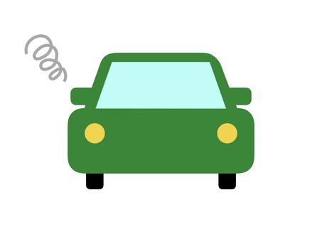 Car car horizontal green breakdown