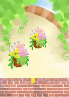 西式花園牆