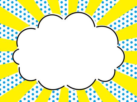 Cloud frame dot blue radiation